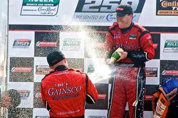 DP podium: class and overall winners Jon Fogarty and Alex Gurney