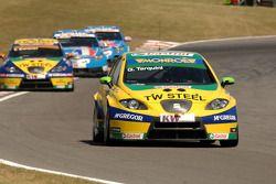 Gabriele Tarquini leads Tom Coronel and Chevrolets