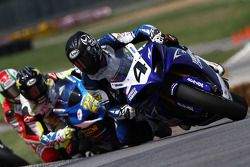 #4 Team Graves Yamaha - Yamaha YZF-R1: Josh Hayes gets by Hayden and takes the lead