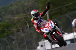#72 Foremost Insurance/Pegram Racing - Ducati 1098R: Larry Pegram salue la foule