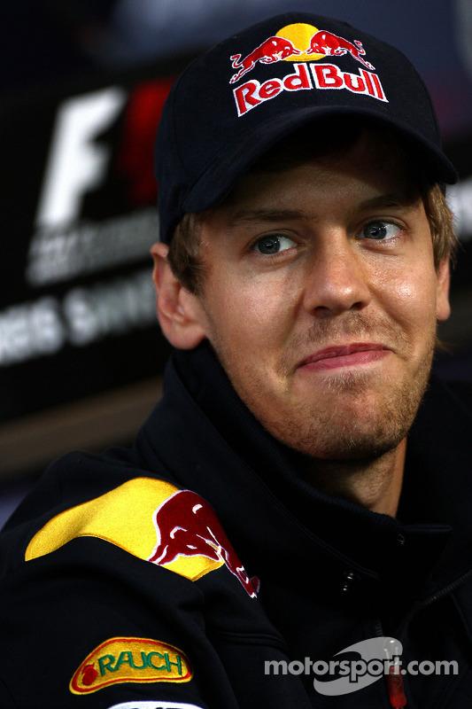 Conférence de presse de la FIA : Sebastian Vettel, Red Bull Racing
