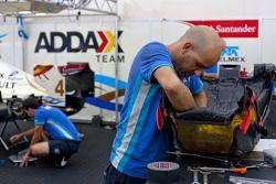 A Addax team mechanic at work