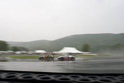 #23 Alex Job Racing Porsche 911 GT3 Cup: Bill Sweedler, Romeo Kapudija, #40 Robertson Racing Doran D