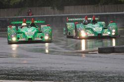 #99 Green Earth Team Gunnar Oreca FLM09: Gunnar Jeannette, Elton Julian, #36 Genoa Racing Oreca FLM0