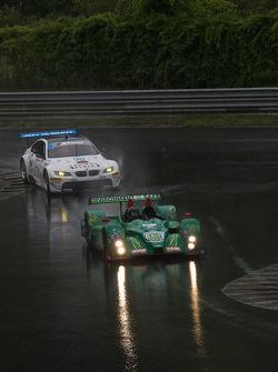 #36 Genoa Racing Oreca FLM09: Tom Sedivy, Christian Zugel, #90 BMW Rahal Letterman Racing Team BMW M3 GT: Dirk Müller, Joey Hand