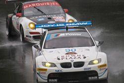#90 BMW Rahal Letterman Racing Team BMW M3 GT: Dirk Müller, Joey Hen, #48 Orbit Racing Porsche 911