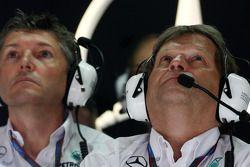 Nick Fry, Chief Executive Officer, Mercedes GP, Norbert Haug, Mercedes, Motorsport chief