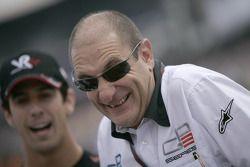 Bruno Michel, GP2 Series Organiser with Lucas Di Grassi, Virgin Racing