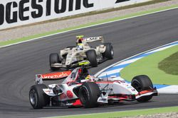 Pastor Maldonado leads Sergio Perez