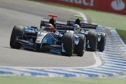 Max Chilton leads Fabio Leimer