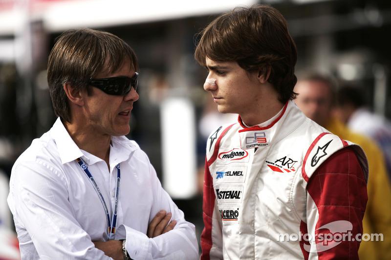 Esteban Gutiérrez habla con Adrián Fernández