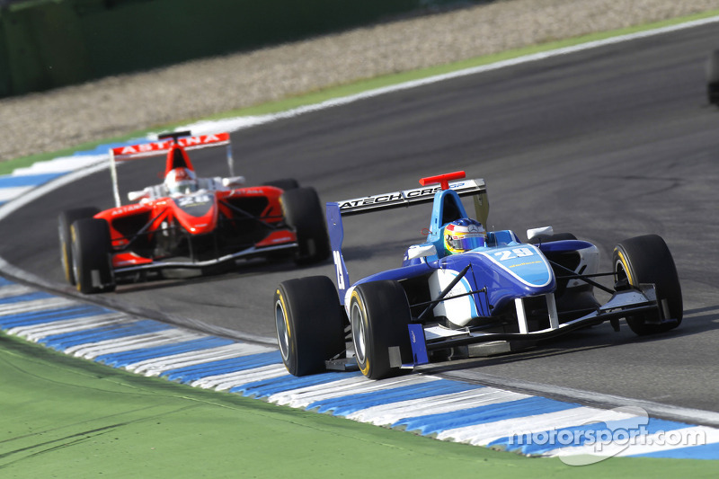 Roberto Merhi leads Daniel Juncadella