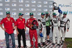 Michelin Green X Challenge podium: prototype winners Greg Pickett and Klaus Graf, GT winners Jaime Melo and Gianmaria Bruni