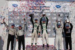 PC klasse podium: winnaars Gunnar Jeannette en Elton Julian, 2de Alex Figge en Tom Papadopoulos, 3de