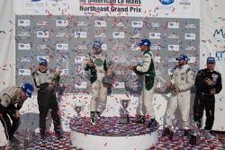 PC class podium: vainqueurs de la catégorie Gunnar Jeannette et Elton Julian, 2e Alex Figge et Tom Papadopoulos, 3e Scott Tucker et Andy Wallace