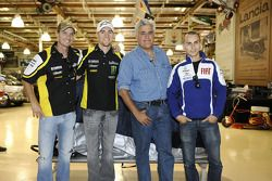 Colin Edwards, Monster Yamaha Tech 3, Ben Spies, Monster Yamaha Tech 3, Jay Leno and Jorge Lorenzo,