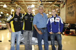 Colin Edwards, Monster Yamaha Tech 3, Ben Spies, Monster Yamaha Tech 3, Jay Leno and Jorge Lorenzo, Fiat Yamaha Team