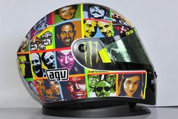 Decoración especial del casco de Valentino Rossi, Fiat Yamaha Team