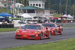 #61 Risi Competizione Ferrari F430 GT: Mika Salo, Pierre Kaffer, #62 Risi Competizione Ferrari F430