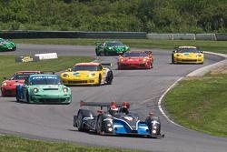 Formatieronde: #52 PR1 Mathiasen Motorsports Oreca FLM09: Alex Figge, Tom Papadopoulos
