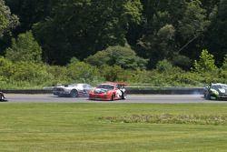 #40 Robertson Racing Doran Design Ford GT: Andrea Robertson, David Murry, #32 GMG Racing Porsche 911 GT3 Cup: Bret Curtis, James Sofronas, #75 Jaguar RSR Jaguar XKRS: Ryan Dalziel, Marc Goossens