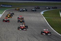 Felipe Massa, Scuderia Ferrari devant au départ de la course