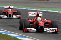 Felipe Massa, Scuderia Ferrari et Fernando Alonso, Scuderia Ferrari