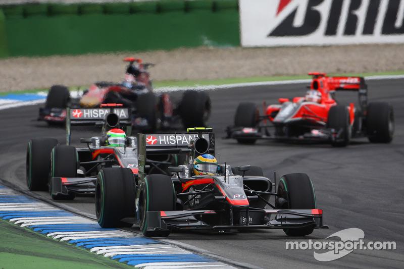 Bruno Senna, Hispania Racing F1 Team ve Sakon Yamamoto, Hispania Racing F1 Team