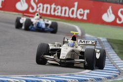 Sergio Perez leads Oliver Turvey