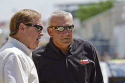 ESPN announcers Rusty Wallace and Dale Jarrett