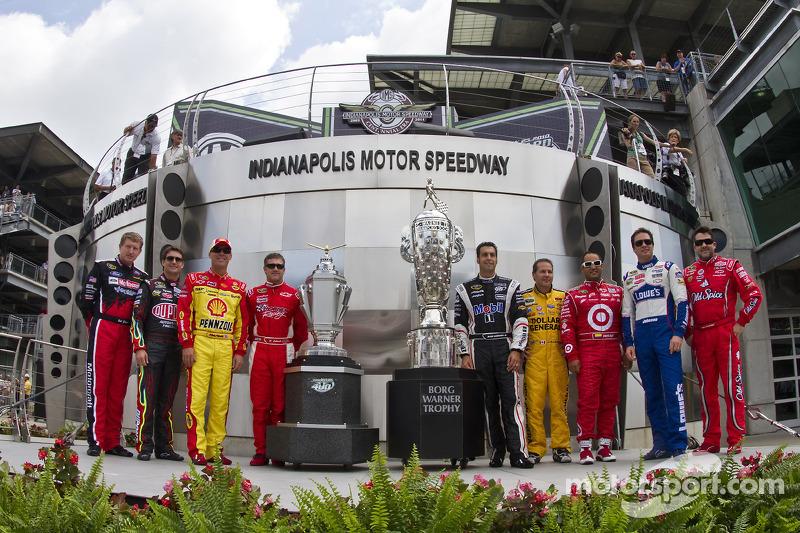 Foto oud-winnaars Indianapolis Motor Speedway