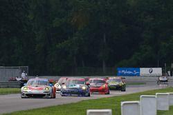 #44 Flying Lizard Motorsports Porsche 911 GT3 RSR: Darren Law, Seth Neiman, #63 TRG Porsche 911 GT3 Cup: Henri Richard, Andy Lally