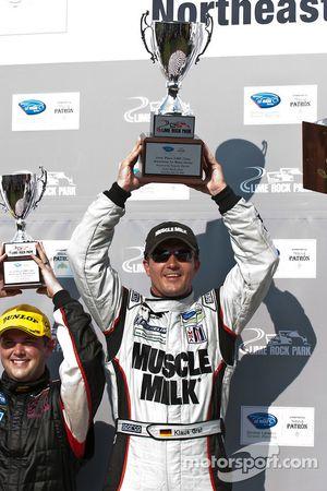 P klasse podium: winnaar klasse en algemeen Klaus Graf