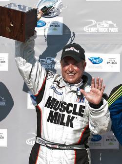 P class podium: class and overall winner Greg Pickett