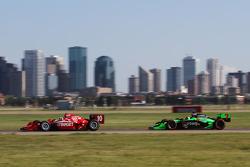 Dario Franchitti, Target Chip Ganassi Racing en Danica Patrick, Andretti Autosport