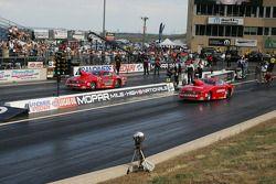 Erica Enders, Piranaz Ford Mustang en Jim Cunningham, Cunningham Motorsports Ford Mustang