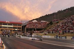 Zonsondergang Bandimere Speedway, Denver, Colorado