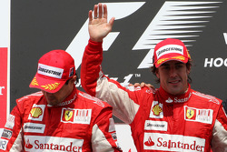 Podium: race winner Fernando Alonso, Scuderia Ferrari, second place Felipe Massa, Scuderia Ferrari