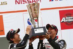 GT300 podium winner: #2 APPLE•K-one•Shiden: Hiroki Katoh, Hiroshi Hamaguchi