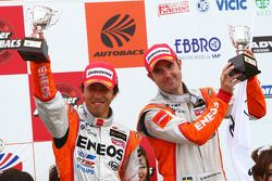 GT500 podium 3rd place: #6 Eneos SC430: Daisuke Ito, Bjorn Wirdheim