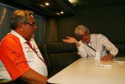 Bernie Ecclestone and Vijay Mallya Force India F1 Team Owner