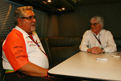 Bernie Ecclestone and Vijay Mallya Force India F1 Team Owner