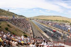 Zicht op Bandimere Speedway, Morrison, Colorado