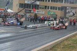 Antron Brown, Matco Tools et Doug Kalitta, Technicoat/Kalitta Motorsports