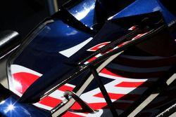 Detalle del ala delantera de Scuderia Toro Rosso