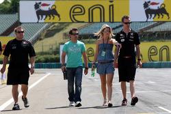 Isabell Reis girlfriend of Timo Glock, Virgin Racing, Timo Glock, Virgin Racing