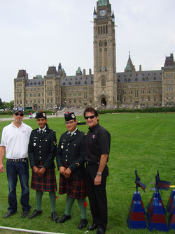 J.R. Fitzpatrick and Ron Fellows in front of the Ottawa Parliament