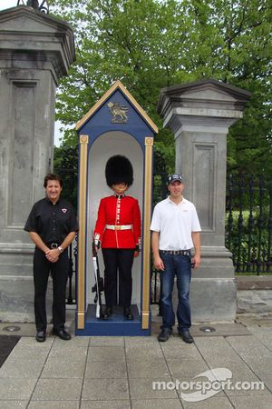 J.R. Fitzpatrick and Ron Fellows with grenadier guard