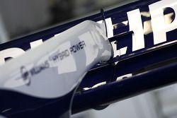 Detalle del alerón trasero de Williams F1 Team