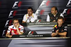 Stefano Domenicali Ferrari Direktörüü, Eric Boullier, Takım Patronu, Renault F1 Team, Colin Kolles,